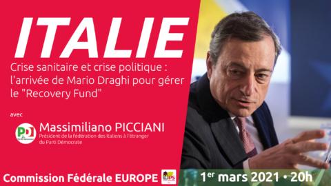 """Crise sanitaire et crise politique : l'arrivée de Mario Draghi pour gérer le """"Recovery Fund"""""""