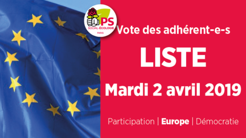 Vote des adhérent-e-s sur la liste aux Européennes