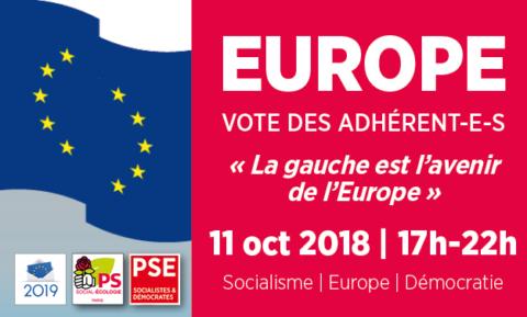 Européennes 2019 | Vote des adhérent-e-s « La gauche est l'avenir de l'Europe »