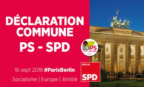Déclaration commune 2018 Fédération PS de Paris – SPD Berlin