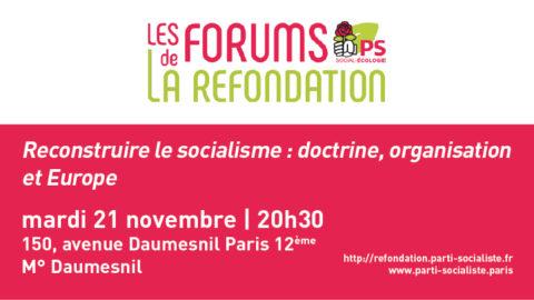 Reconstruire le socialisme : doctrine, organisation et Europe