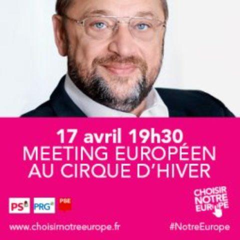 Lancement des Européennes à Paris par Martin Schulz