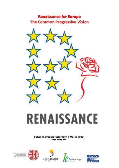Renaissance pour l'Europe : une vision progressiste commune !