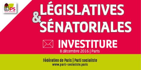 Investiture des candidat-e-s pour les législatives 2017