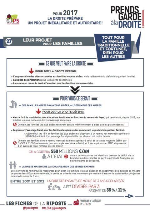 Prends garde à la droite #27 | «Leur projet pour les familles «
