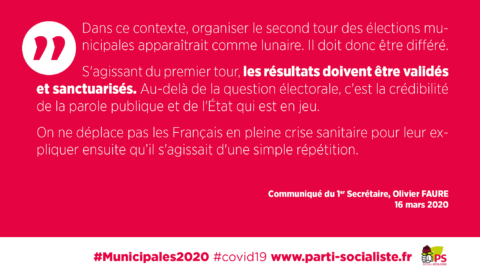 #Municipales2020 | CP du 1er secrétaire