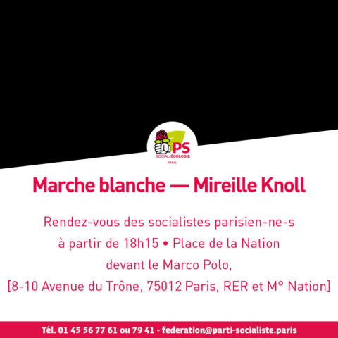 Marche Blanche — Mireille Knoll