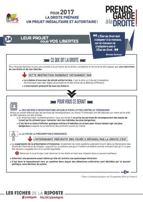 Prends garde à la droite #24 | «Leur projet pour vos libertés «