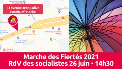 Pride2021 🏳️🌈 Les socialistes parisiens seront là !