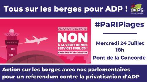 Aéroports de Paris : non à la vente de nos services publics, oui au référendum !