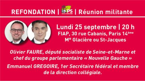 Réunion militante (13e) sur la Refondation