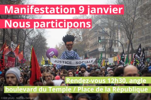 #Retraites | Les socialistes seront dans la rue ce jeudi 9 janvier