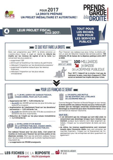 Prends garde à la droite #4 : leur projet fiscal pour 2017