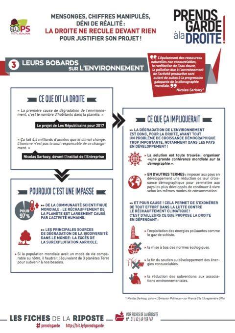 Prends garde à la droite #3 : leurs bobards sur l'environnement