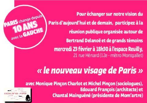 Rencontre-débat le 23 février sur 'Le nouveau visage de Paris'