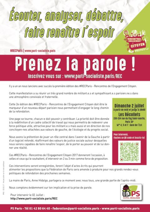Flyer d'invitation aux #RECParis 2e édition