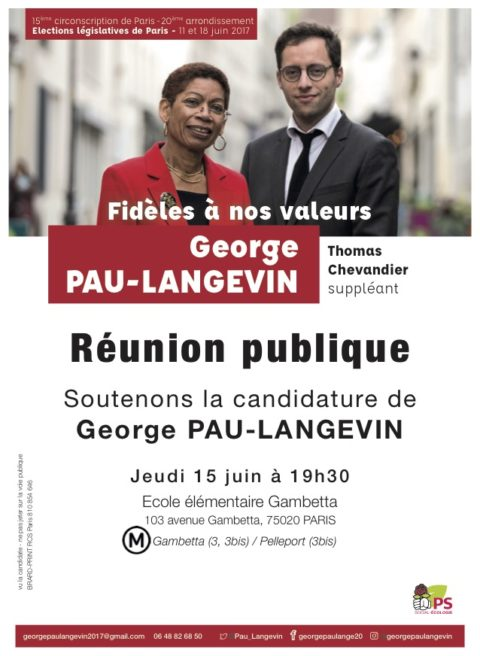 Réunion publique de George Pau-Langevin