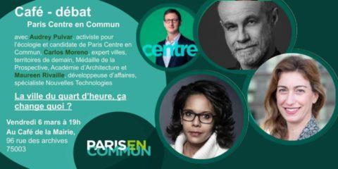 Paris Centre | Café-débat : la ville du quart d'heure, ça change quoi ?