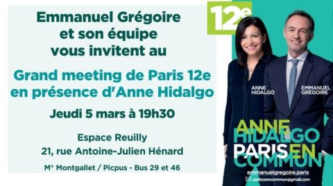 12e | Grand Meeting de Paris 12 En Commun en présence d'Anne Hidalgo