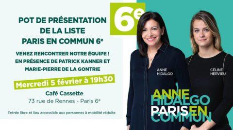 6ème | Présentation de la liste Paris en Commun