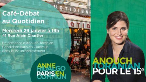 15e | Café-Débat au Quotidien avec Anouch Toranian