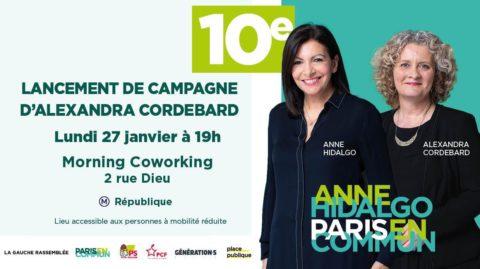 Lancement de campagne 10e avec Alexandra CORDEBARD