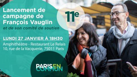 Lancement de campagne 11e avec François VAUGLIN