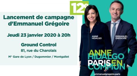 Lancement de campagne 12e avec Emmanuel GREGOIRE