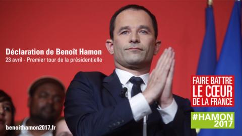 Résultats | Déclaration de Benoît Hamon