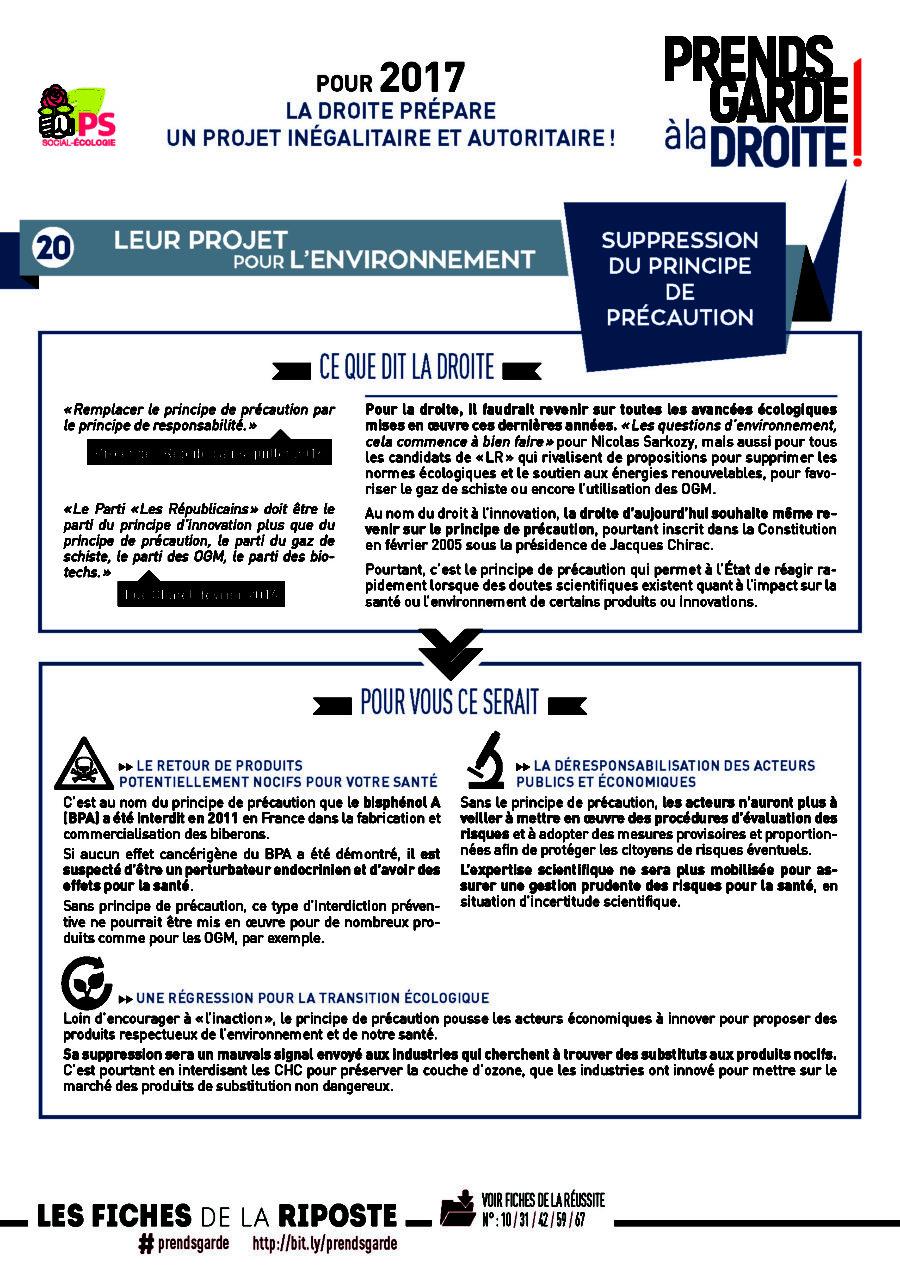 Prends garde à la droite #20 Environnement | Suppression du principe de précaution