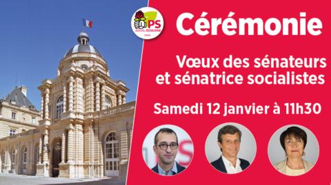 Voeux des sénateurs socialistes parisiens