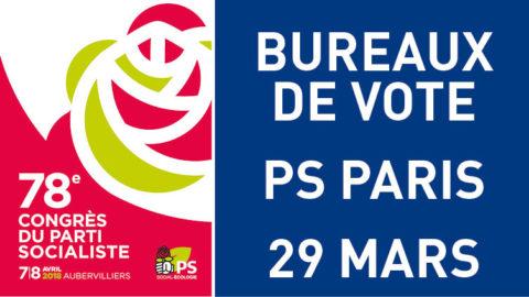 Lieux de vote  – 29 mars 2018