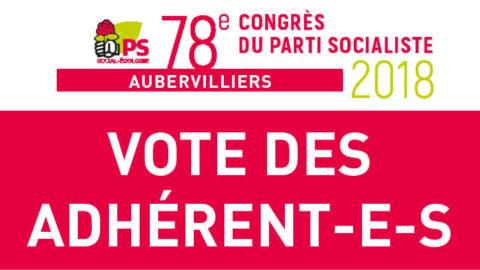 Vote militant sur les textes d'orientation