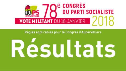 Résultats du vote du 18 janvier 2018