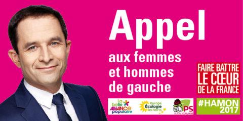 Paris avec Benoit Hamon !  <br>Signez l'appel des Parisien-ne-s !