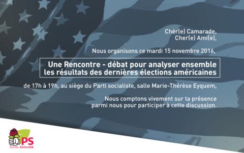 Analyser ensemble les résultats des dernières élections US