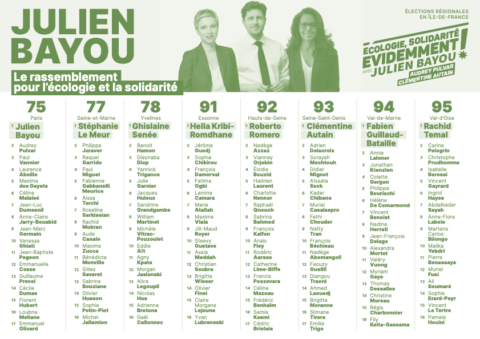 REGIONALES • Bulletin de vote pour le 2e tour