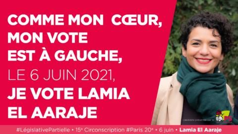 Chaque voix comptera pour faire élire Lamia El Aaraje !