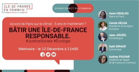 Faire de l'Ile-de-France une région sociale écologiste et démocratique.