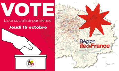 Vote de désignation des candidat•es socialistes parisien•nes pour les régionales 2021