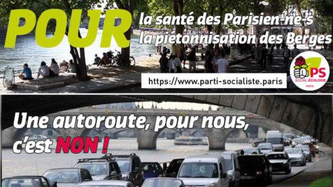 Les Berges de Seine doivent rester piétonnes !
