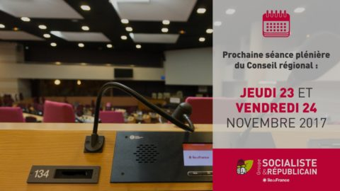 Session plénière du Conseil régional IdF