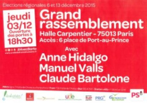 Gd Rassemblement avec Bartolone, Valls et Hidalgo