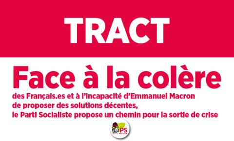 Tract parisien Répondre à la colère