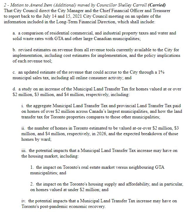 Councillor Carroll motion 1