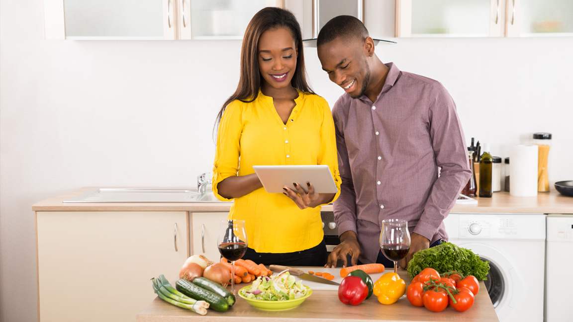 Help control sodium by cooking at home more