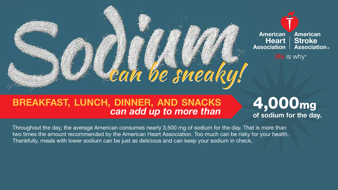 Sodium Can Be Sneaky - 9 tips to lower sodium in meals and snacks