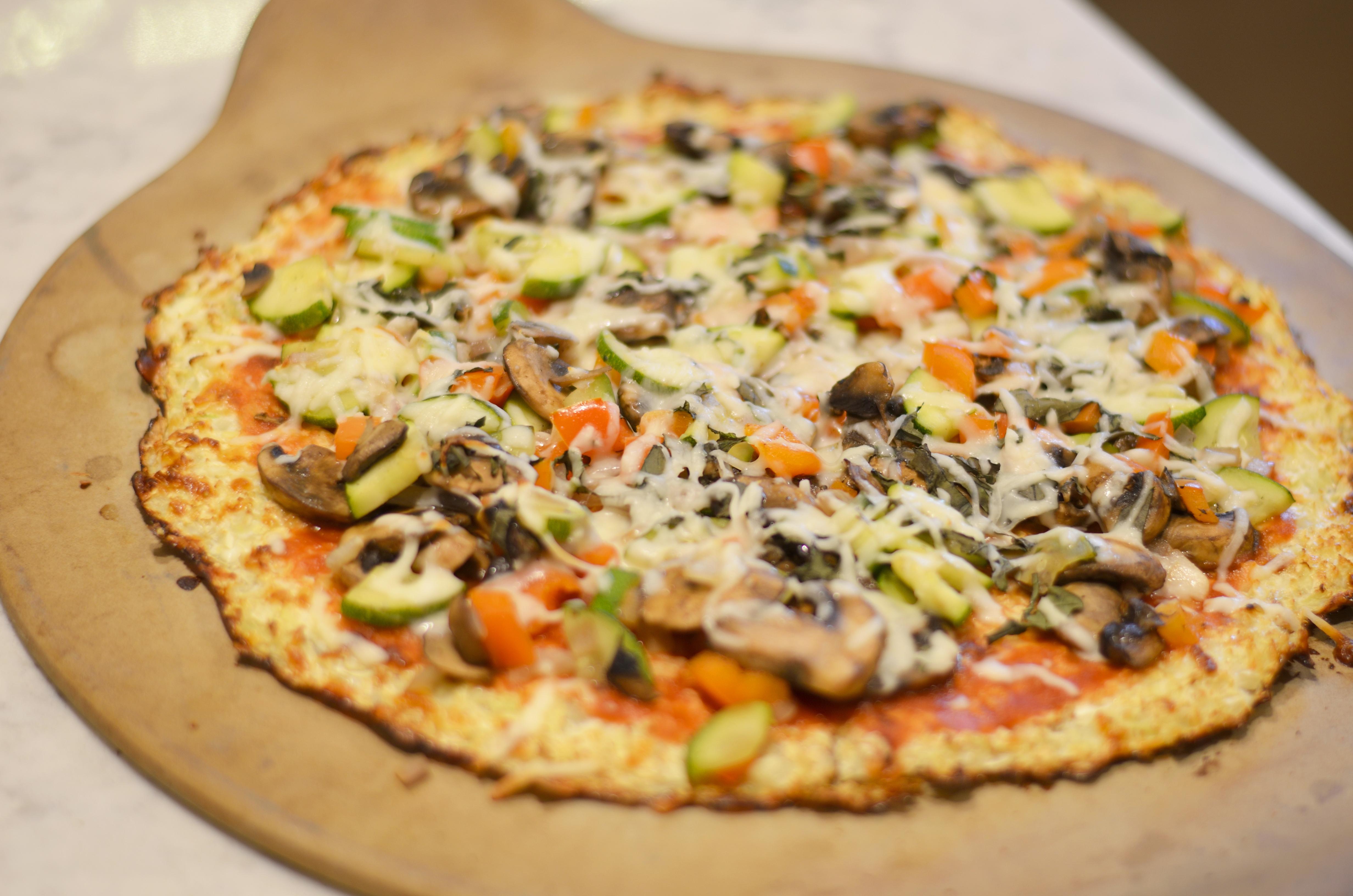 Celebrate National Pizza Day: Veggie Pizza with Cauliflower Crust
