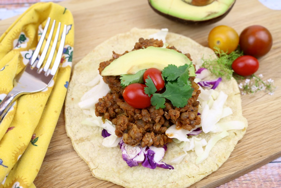 Just in time for American Heart Month: Spicy Lentil Tacos (Vegan, Gluten-Free)