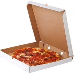 open pizza delivery box